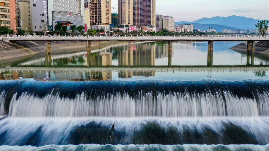 View of Wengjiang River in Shaoguan, S China