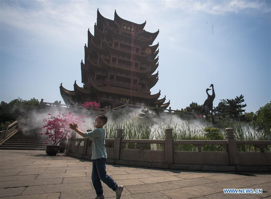 Yellow Crane Tower in Wuhan reopens to public