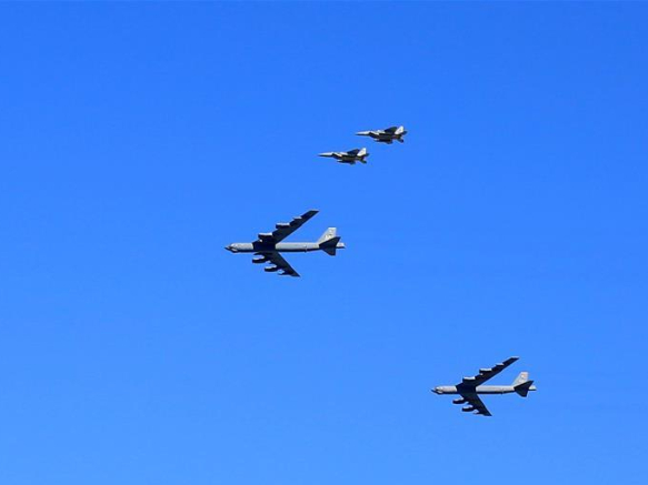 Air show performed by American military to honor frontline workers amid COVID-19 pandemic