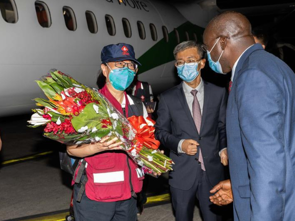 Chinese medical team arrives in Cote d'Ivoire to help fight against COVID-19