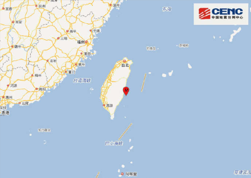 5.4-magnitude quake hits Taiwan: CENC