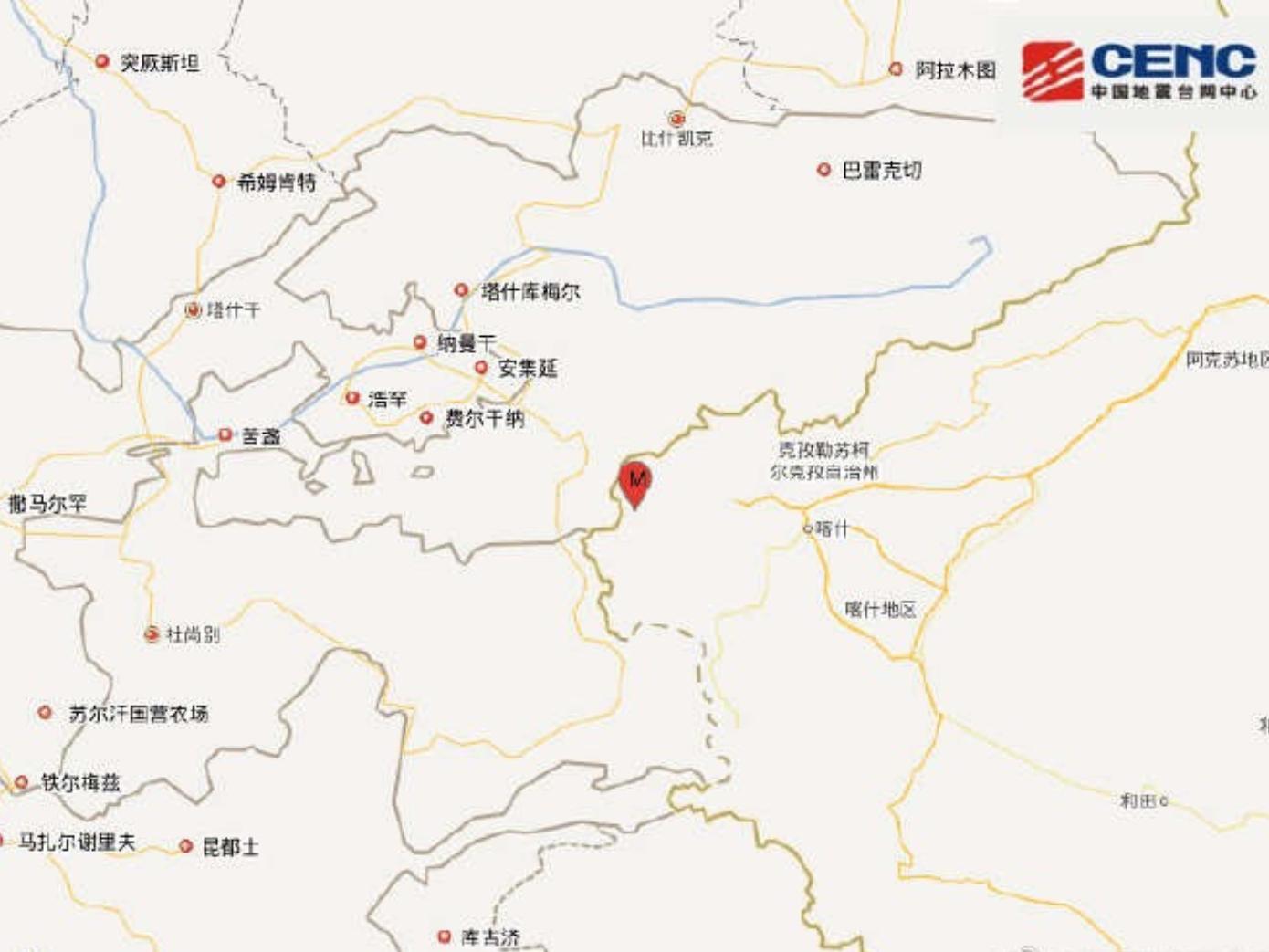 No casualties reported after 5.0-magnitude quake hits Xinjiang