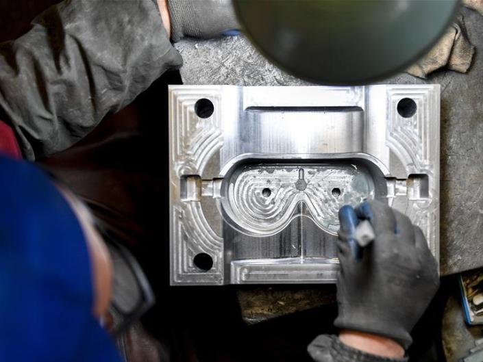 Medical protective goggles produced at factory in Helong, NE China