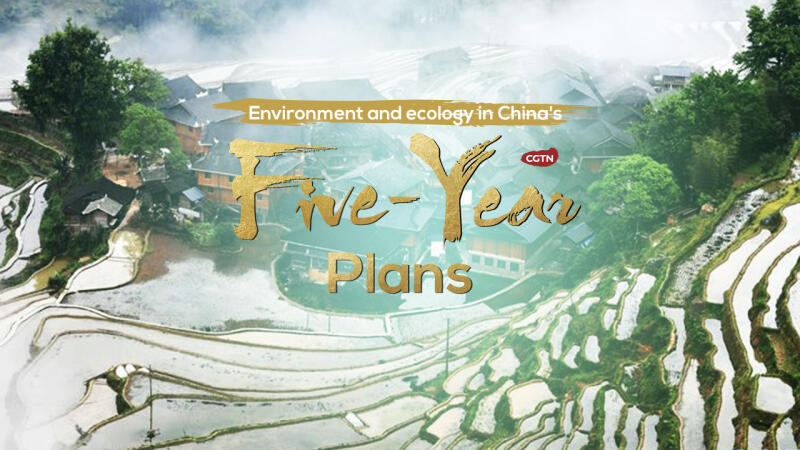 How does China's five-year plans address environment?