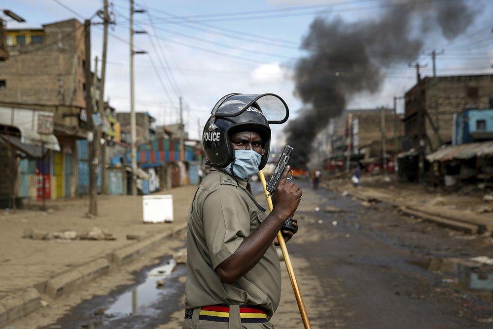 Kenyans protest house demolitions amid virus restrictions