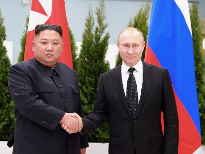 DPRK's top leader sends greetings to Russian president on 75th V-Day anniversary