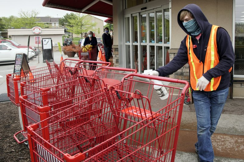Store workers become enforcers of social distancing rules