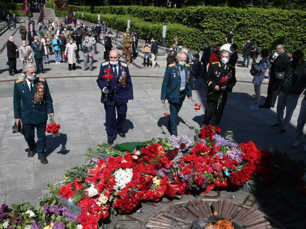 Victory in Europe Day marked in Kiev, Ukraine