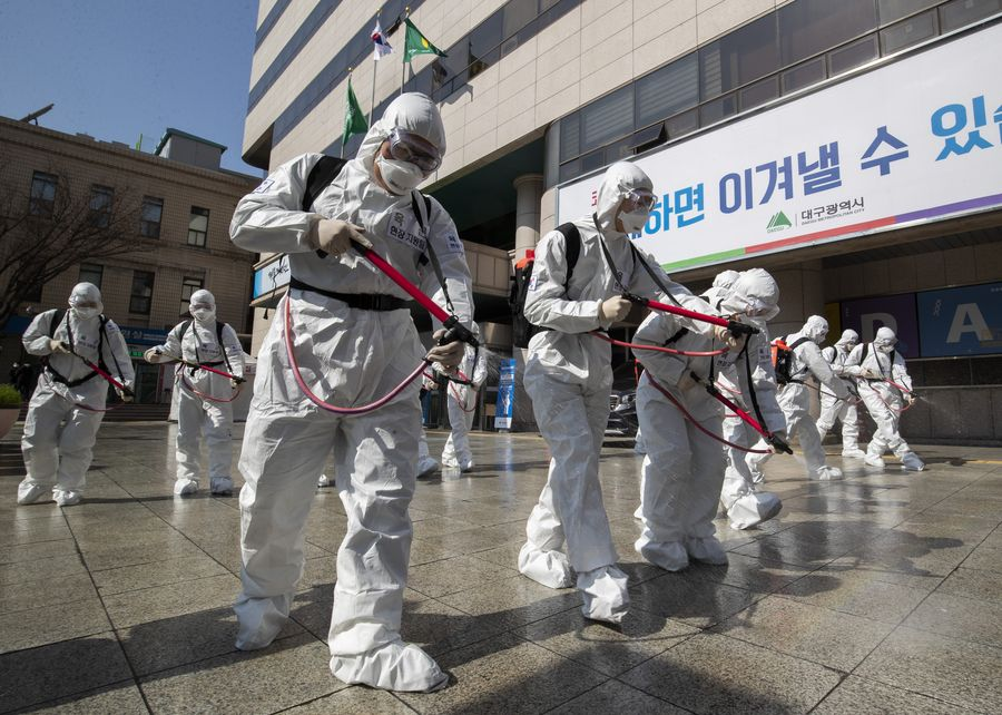 S.Korea reports 34 more COVID-19 cases, 10,874 in total