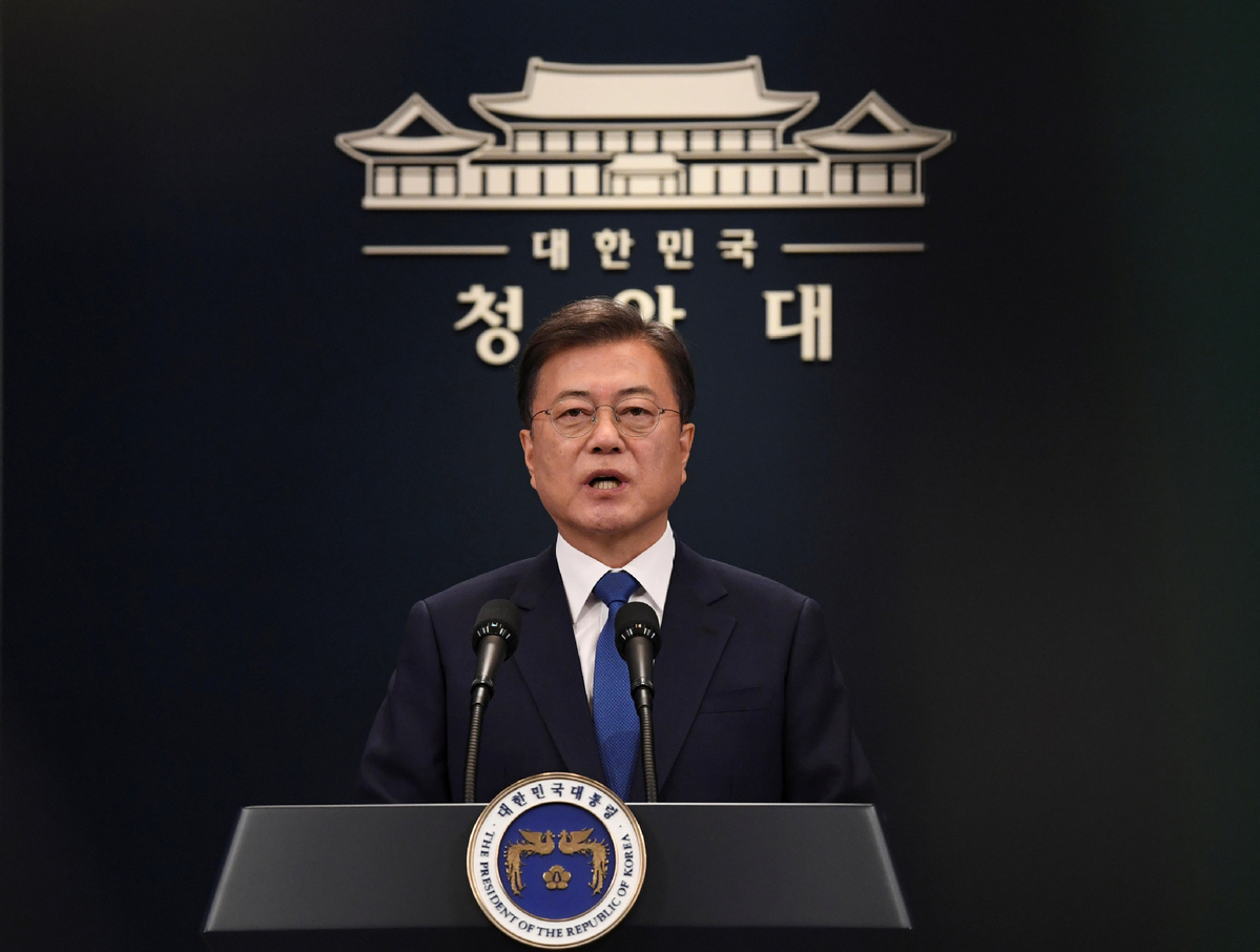 S. Korean president says to prepare for post-COVID-19 era via employment safety net, digital economy