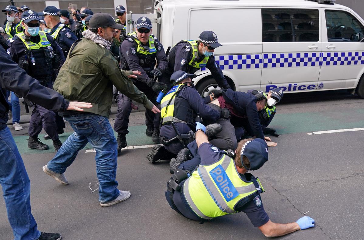 Australian anti-lockdown protesters harshly rebuked by medical community