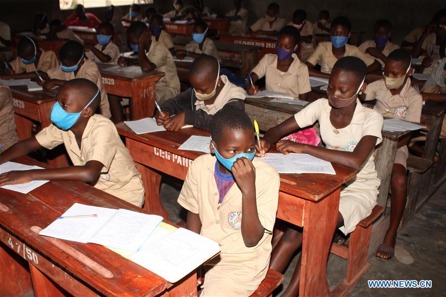 Students in Benin resume class