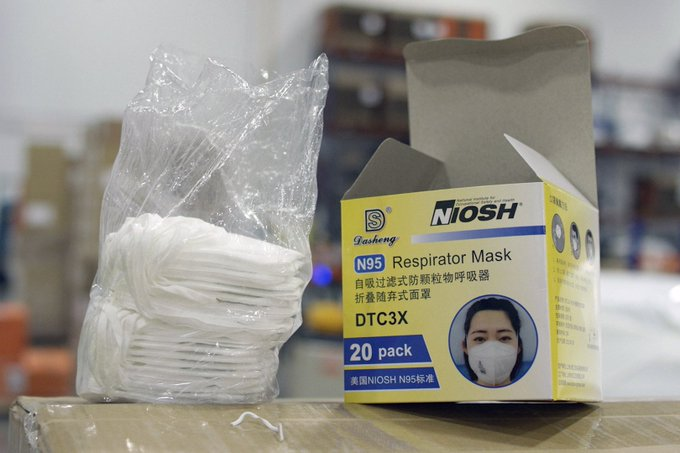 Chinese mask producer denies having exported N95 masks with ear loops to US