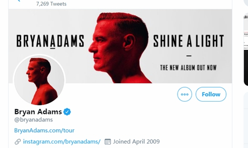 Chinese fans disappointed at Bryan Adams' 'bat eating' attack