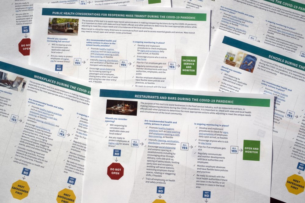 US officials release edited coronavirus reopening guidance