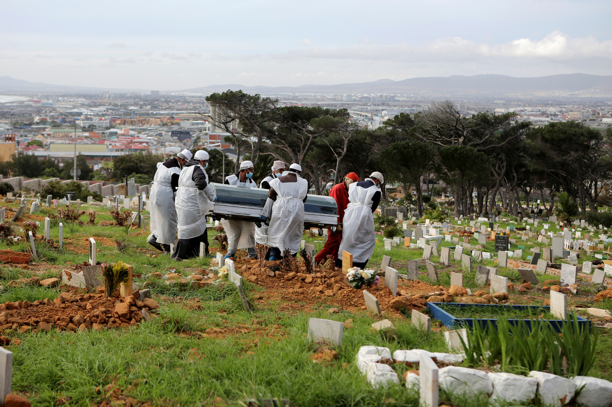 S. Africa records highest number of daily COVID-19 cases
