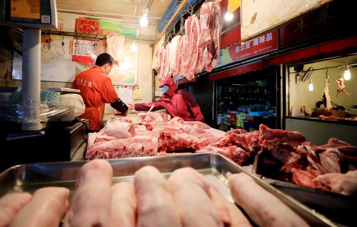 China's pork prices decline in April
