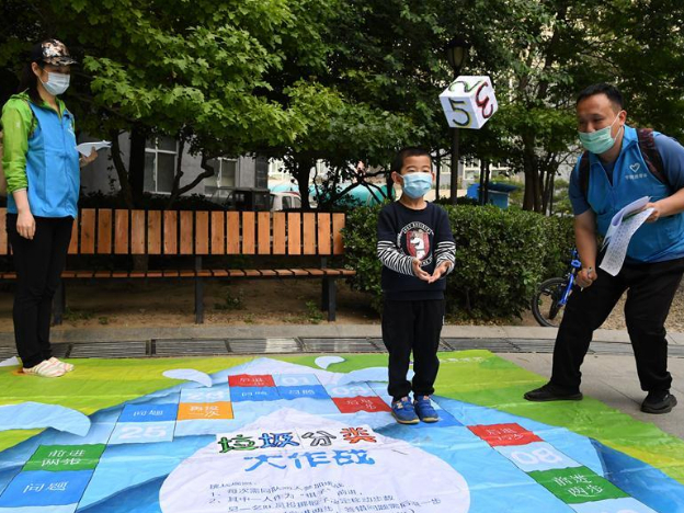 Garbage sorting-themed games held in Beijing
