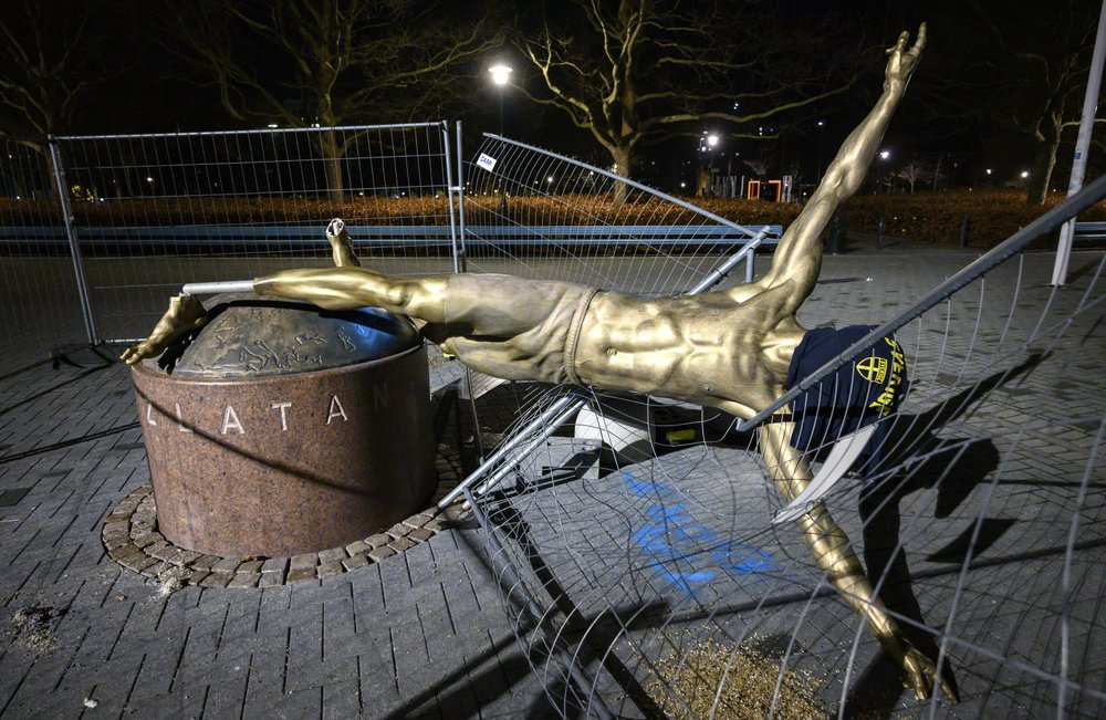 City of Malmo set to relocate vandalized Ibrahimovic statue