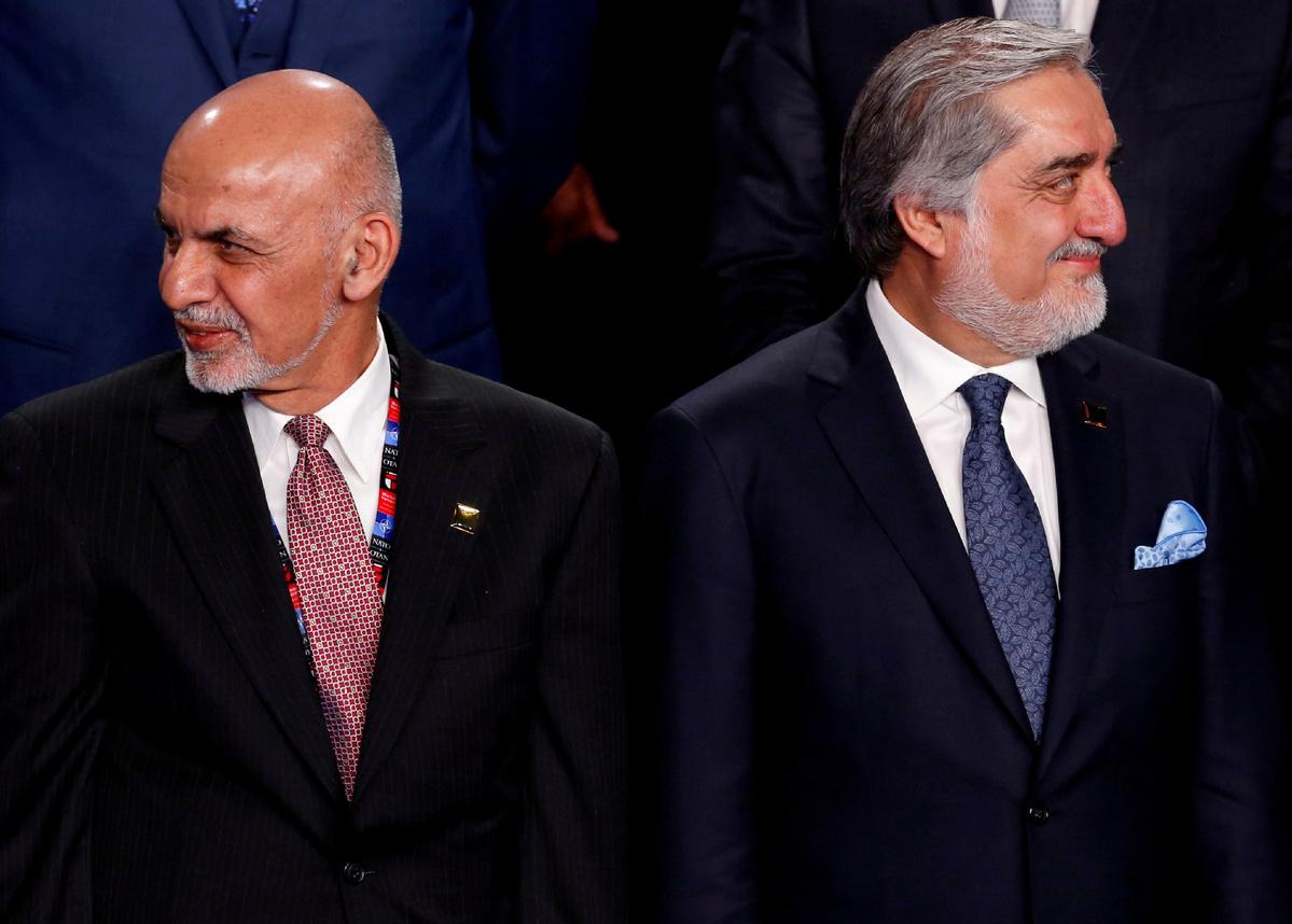 Afghan President Ghani, rival Abdullah ink deal to end political deadlock