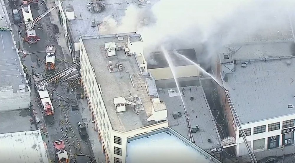 Fire, explosion in Los Angeles injures 10 firefighters