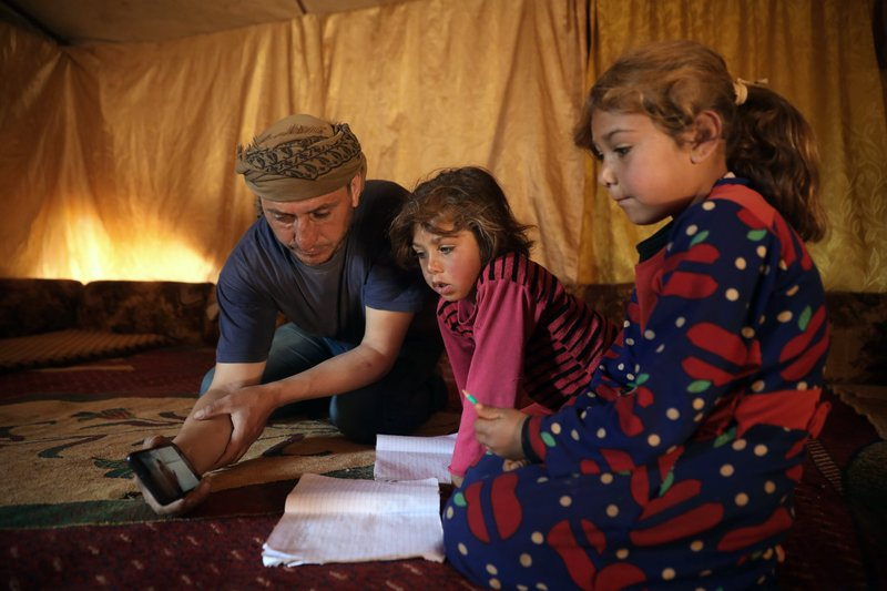 Online English classes revive ties severed by war in Syria