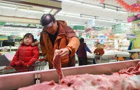China's pork prices continue to fall