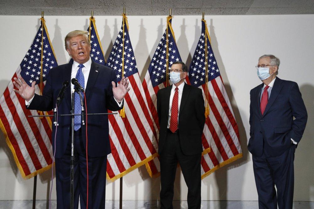 Trump tells Senate GOP to 'be tough' on Democrats