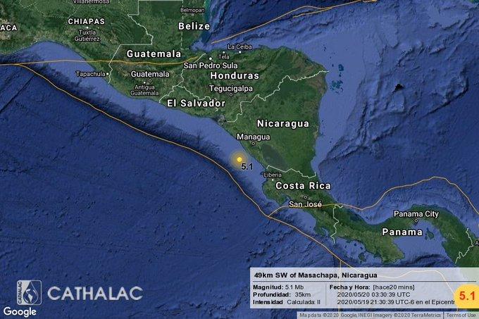 5.1-magnitude quake hits Masachapa, Nicaragua: USGS
