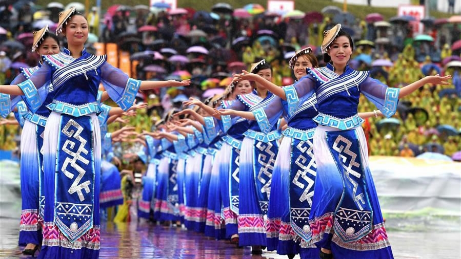 Xi urges Maonan people to continue to strive for better life