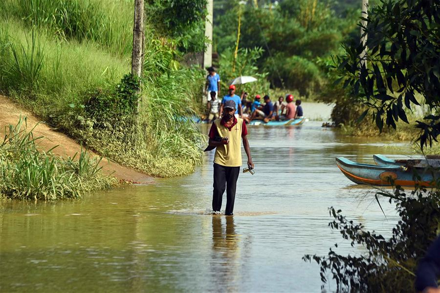 Floodwaters wreak havoc in Ratnapura, Sri Lanka