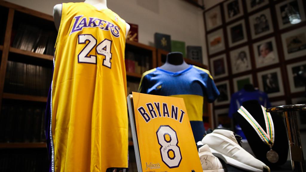 Kobe Bryant's memorabilia auctioned for premium prices