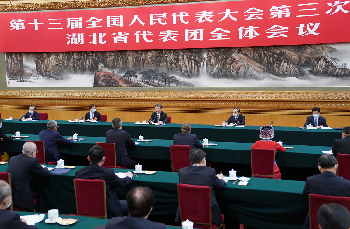 Xi joins deliberation of Hubei delegation at annual national legislative session