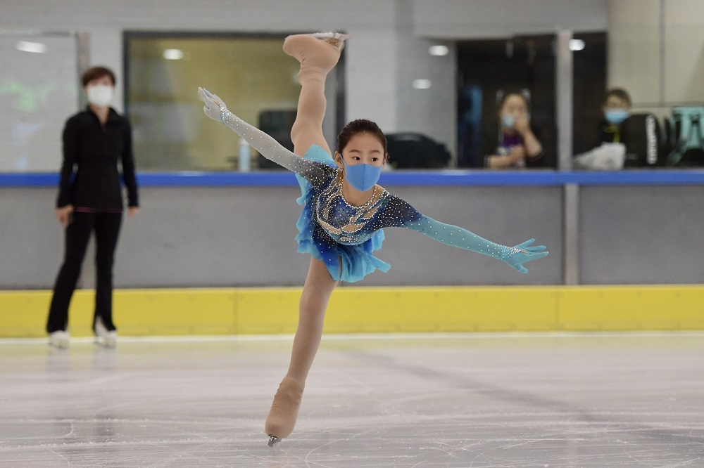 Figure skaters back at rink as ice sports resume