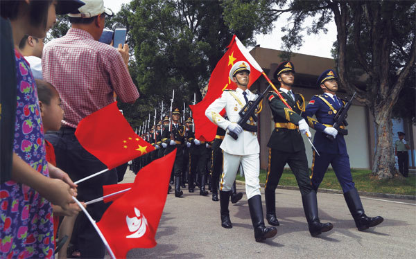 PLA's HK garrison will carry out central govt's policies