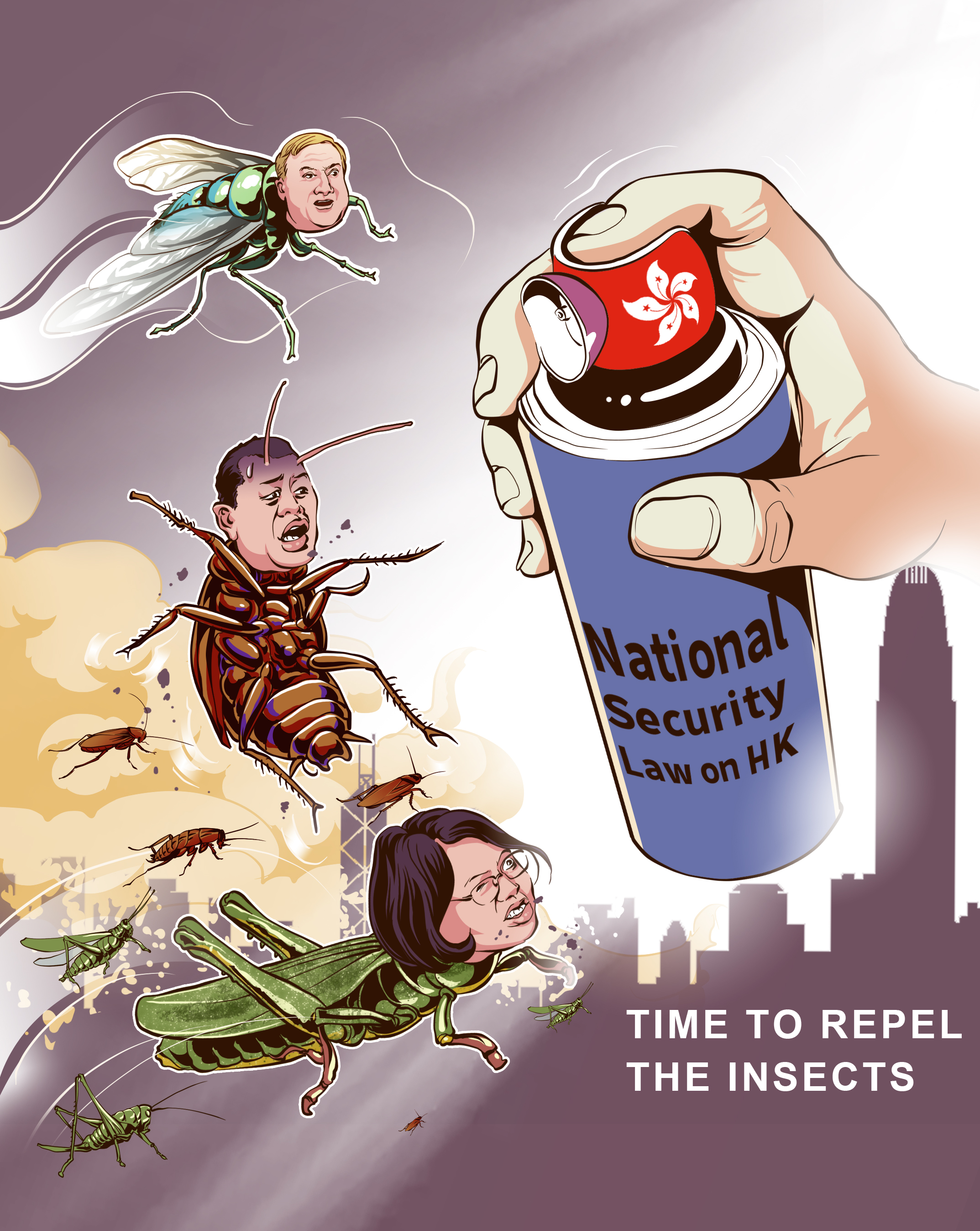 Poster: Time to repel the insects