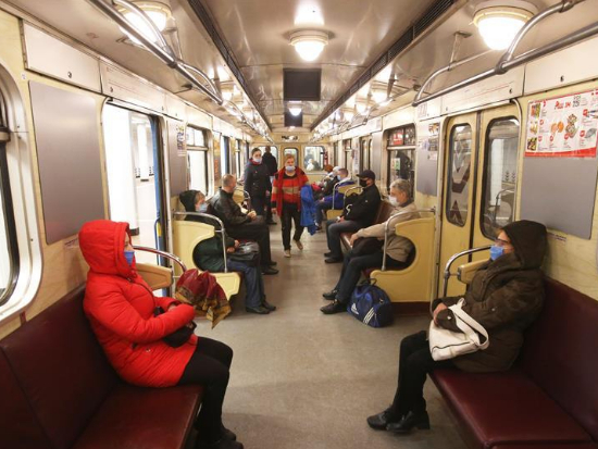 Subway reopens in Kiev, Ukraine