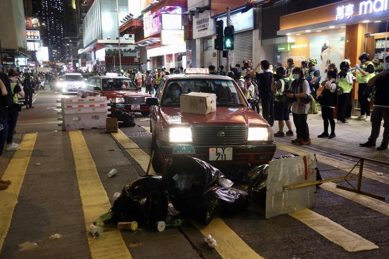 Protest violence chokes the heart of HK