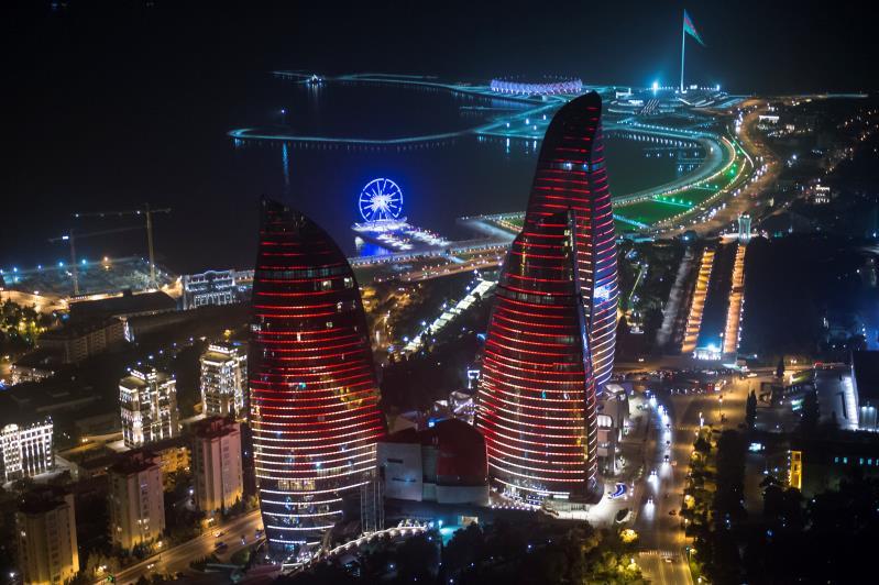 Azerbaijani people celebrate the National Holiday