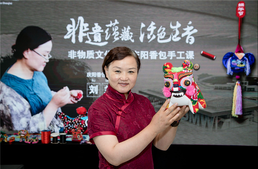 Qingyang sachets stitch their place into cultural firmament