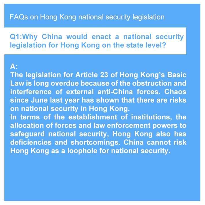 Posters: FAQs on Hong Kong national security legislation