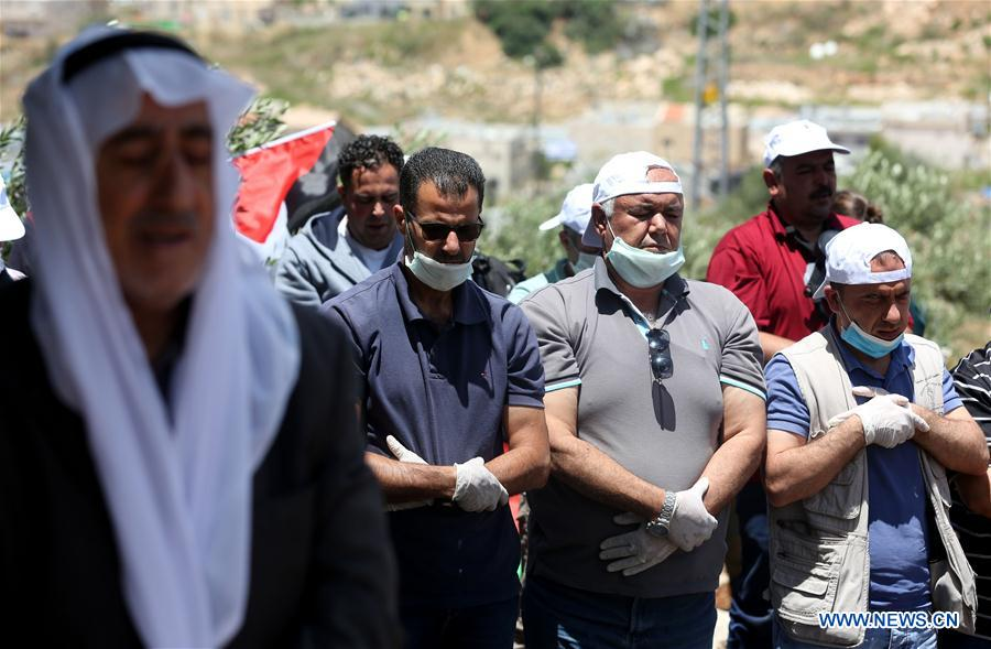 Palestinians protest against Israeli settlements and Israeli annexation plans