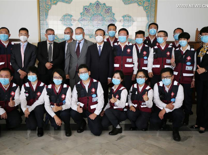 Chinese medical team ends mission to help fight against COVID-19 in Algeria