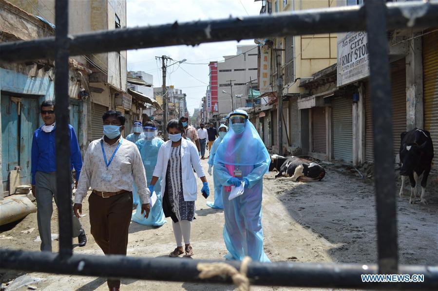 Indian medics team visit COVID-19 hotspot area in Bangalore