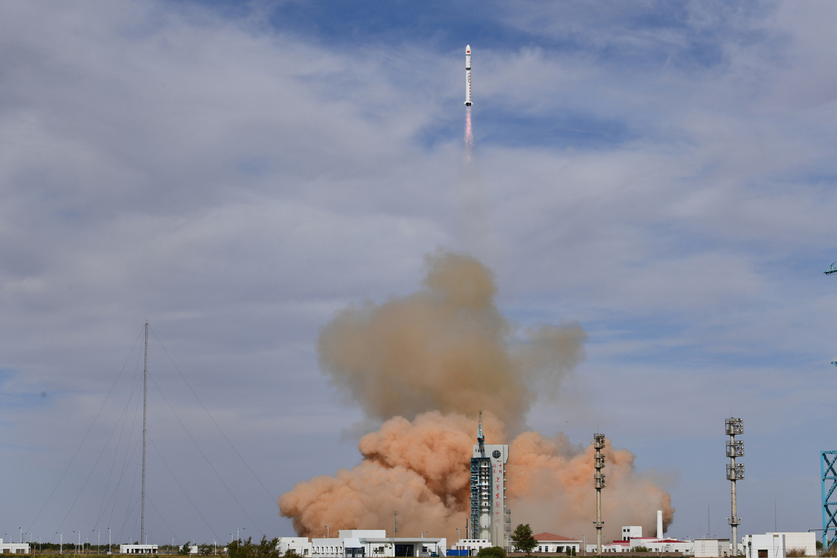 Rocket launch propels two satellites into orbit