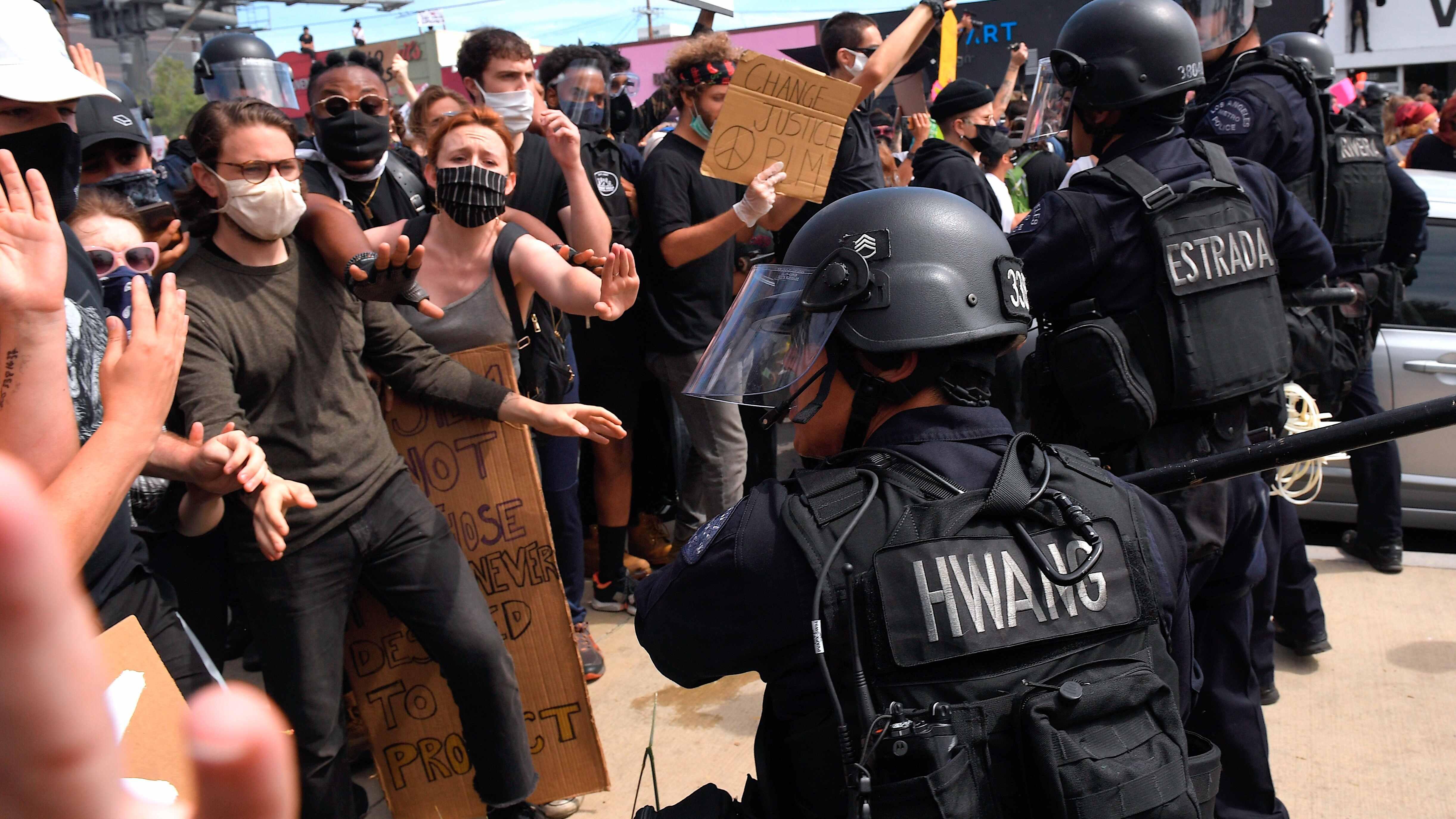 LA declares state of emergency as curfews set in multiple US cities