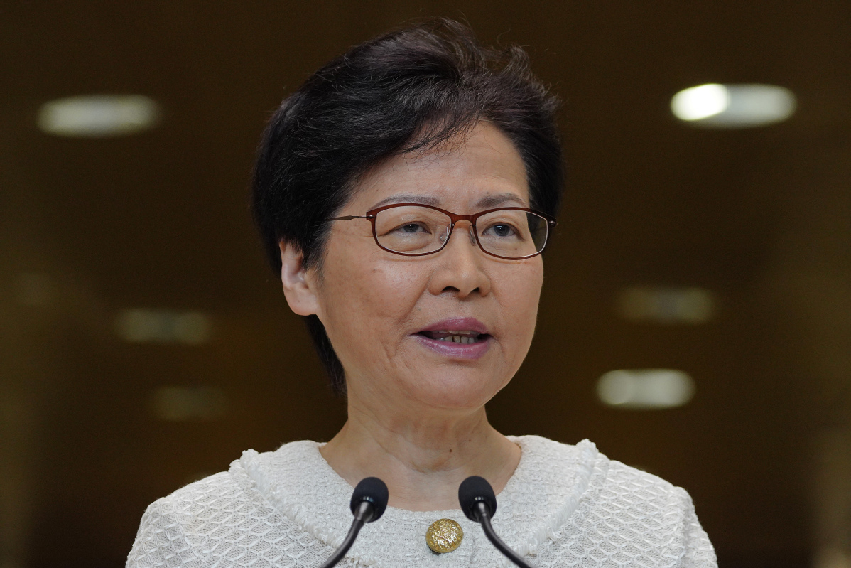 HK leader to visit Beijing to discuss national security law