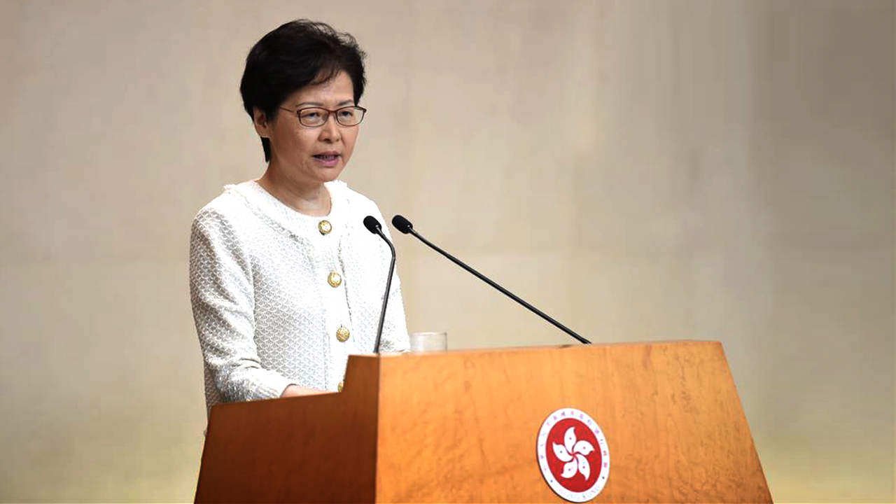 Carrie Lam accuses US of 'double standards' over protests