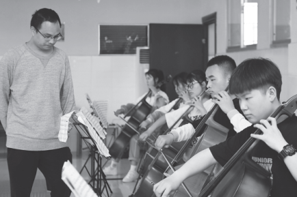 Art teachers use music for high note of success