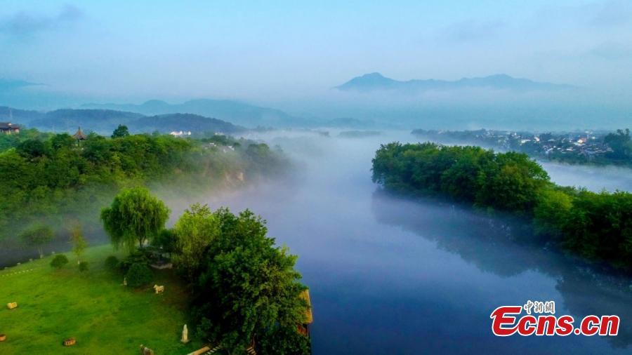Scenery of Taohuatan scenic area in Jingxian County, E China's Anhui